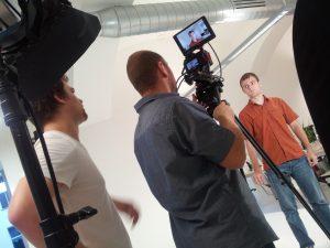 Momentka z natáčení promovidea