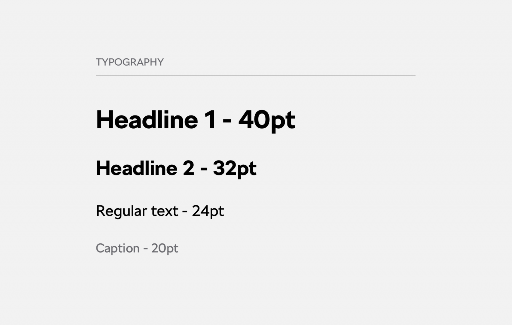 typography on smart TV