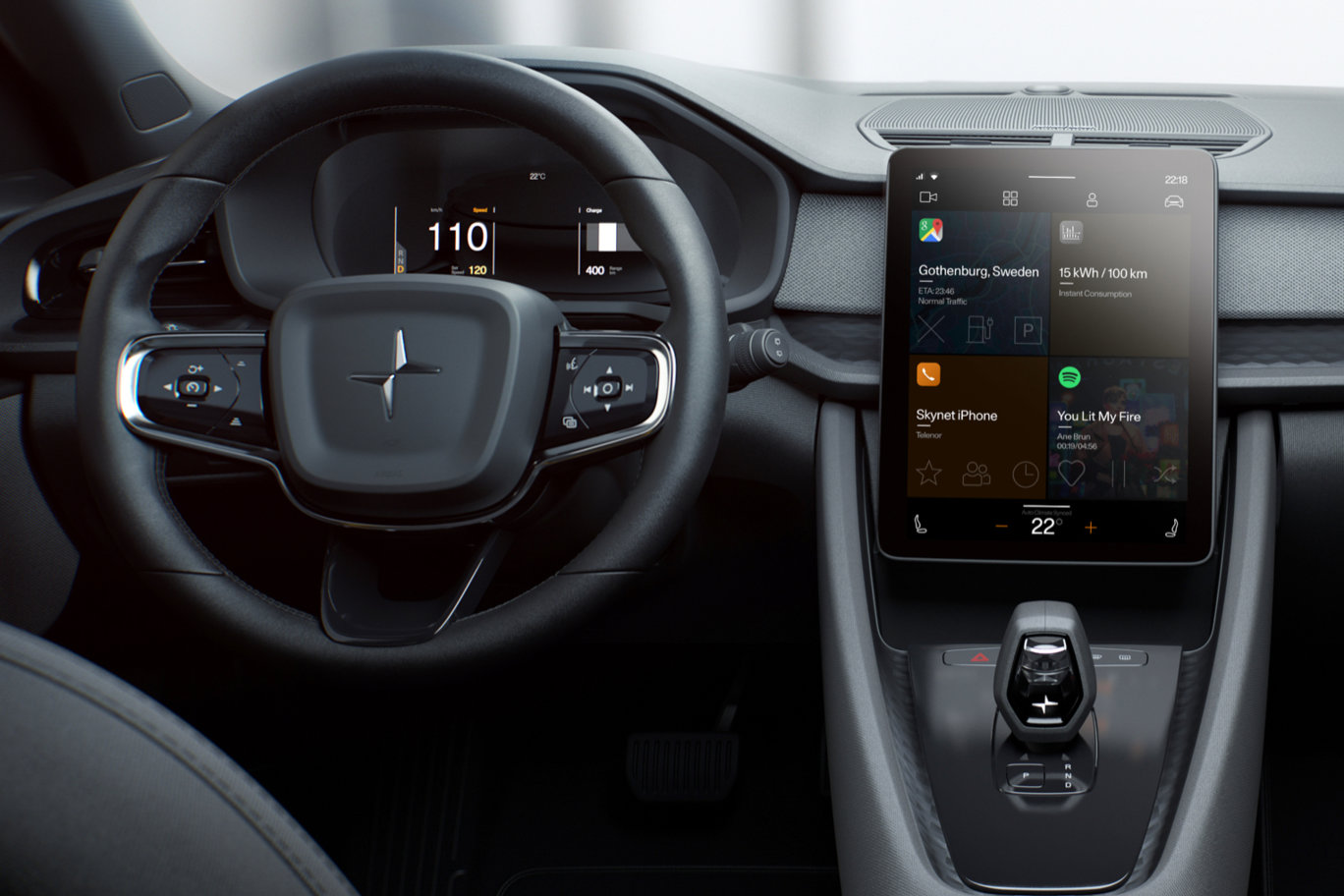 Polestar 2 running Android Automotive