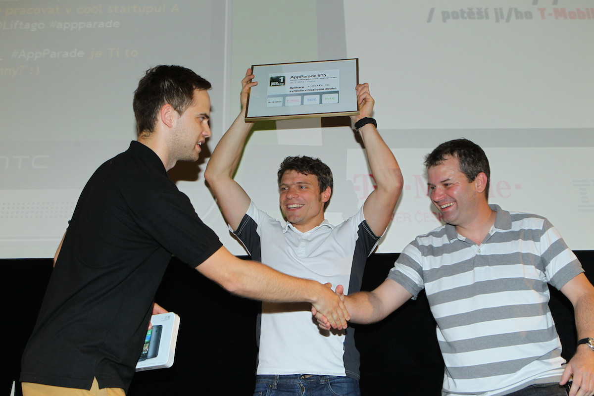 1. place for application uLékaře.cz on 15. AppParade, which took apart 26.5.2014 in Biu Oko (source: mediar.cz)
