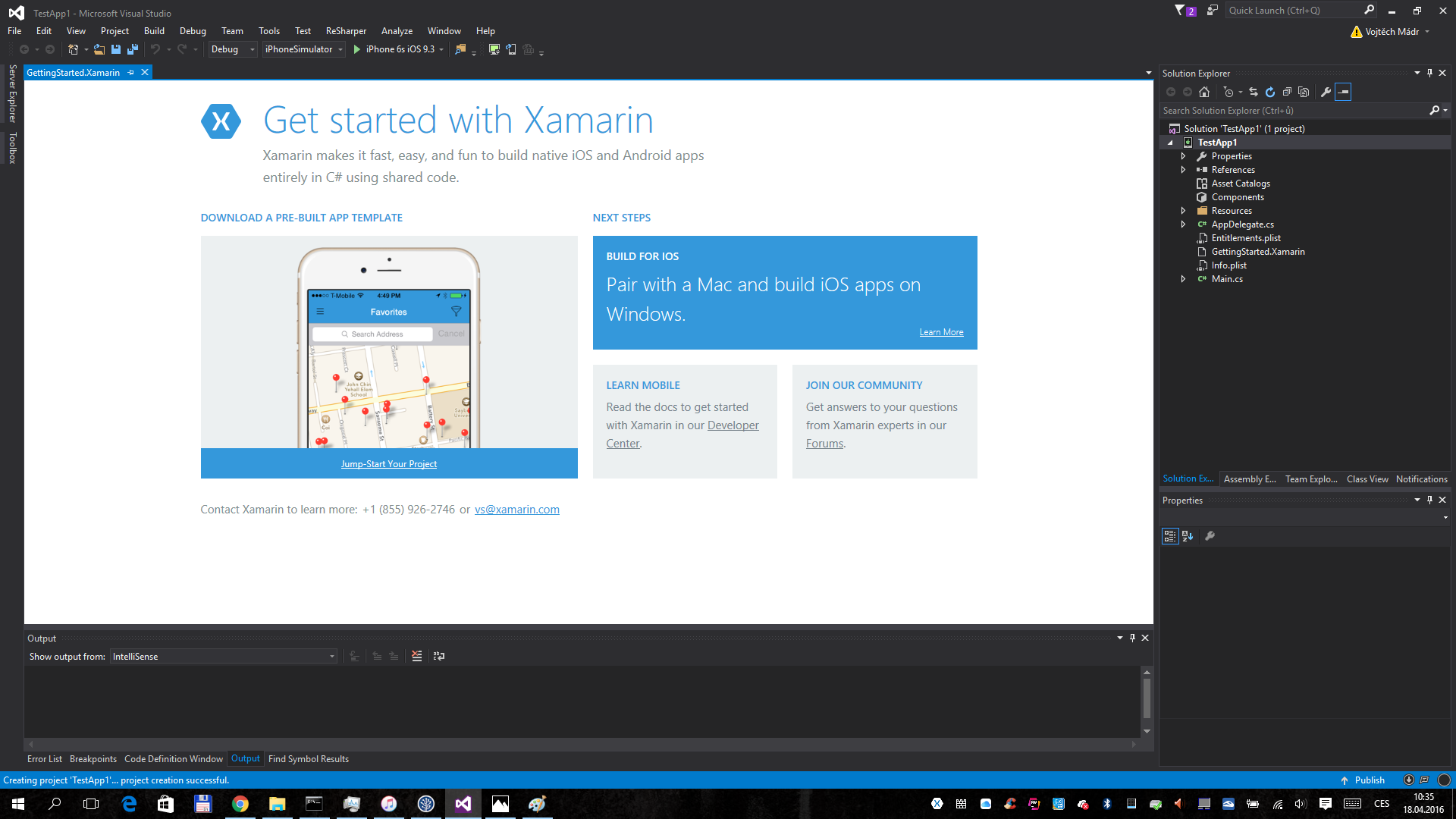 Xamarin: Hello world ve Visual Studiu (part 3) | eMan