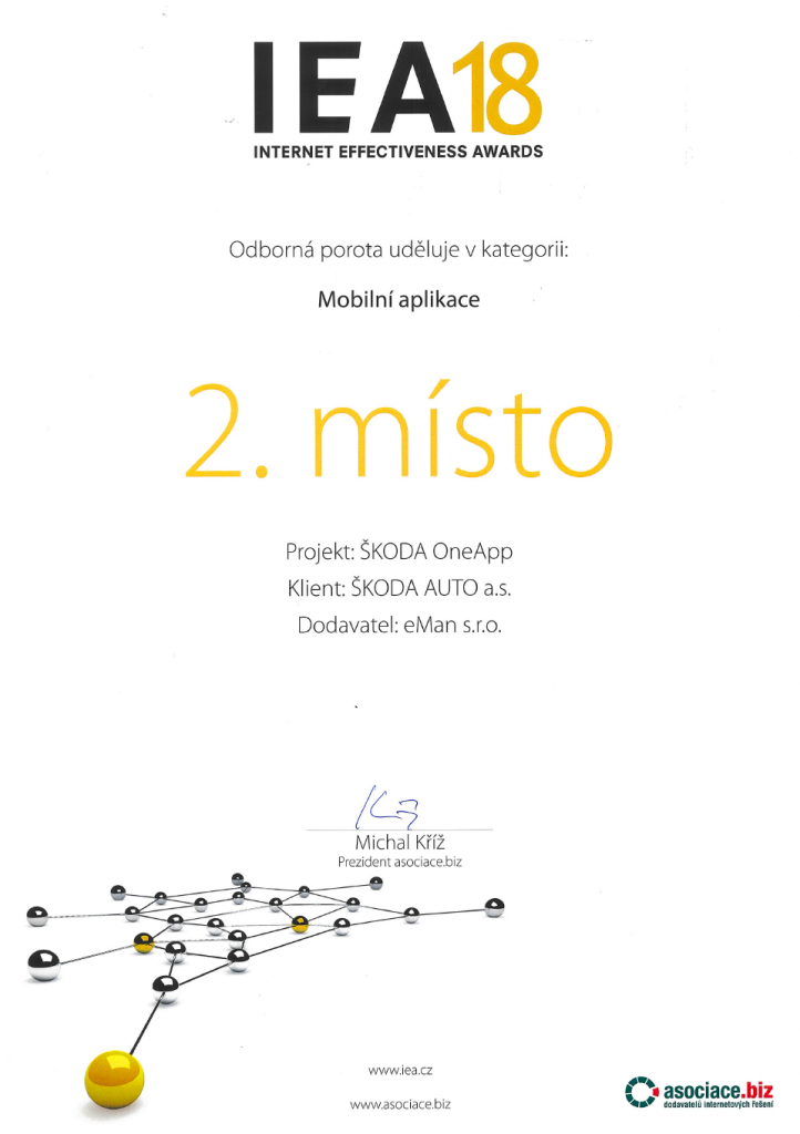 diploma iea 2018 skoda one app eman